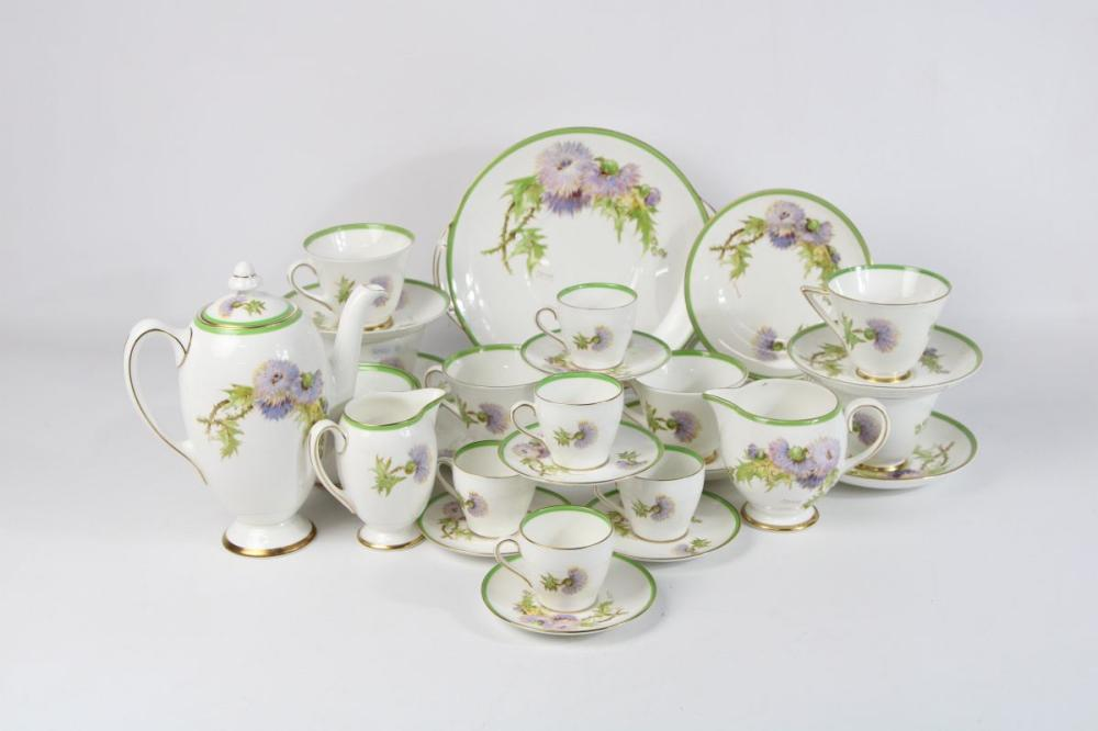 "A Royal Doulton ""Glamis Thistle"" Part Tea Service"