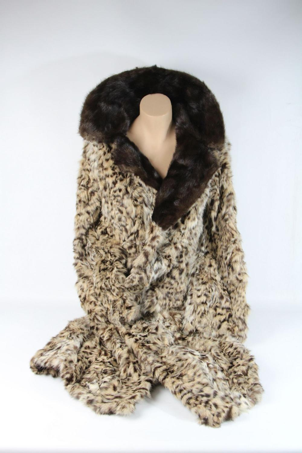 A Cornelius Ocelot Coat with Mink Collar (Size 12) Ref No KBW10518