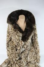 Lot 13: A Cornelius Ocelot Coat with Mink Collar (Size 12) Ref No KBW10518