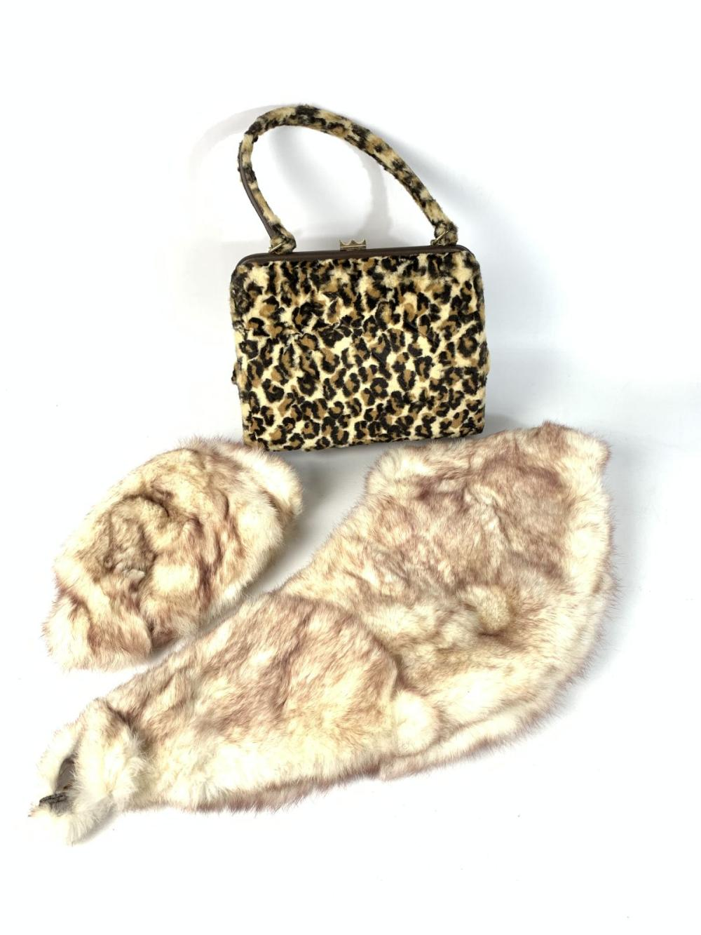 NSW Made Hand Bag Together with Fur Hat and Stole
