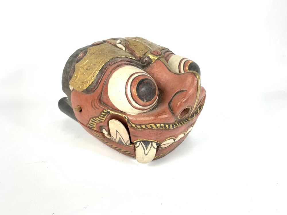 Carved Timber Dragon Mask With Movable Mouth ( H 22cm L 33cm)