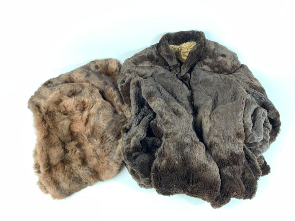 A Brown Fur Coat together with A Berkeley Shoulder Coat
