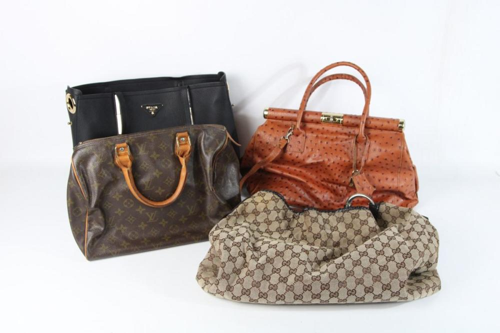 A Set of 4 Ladies Monogram Bags