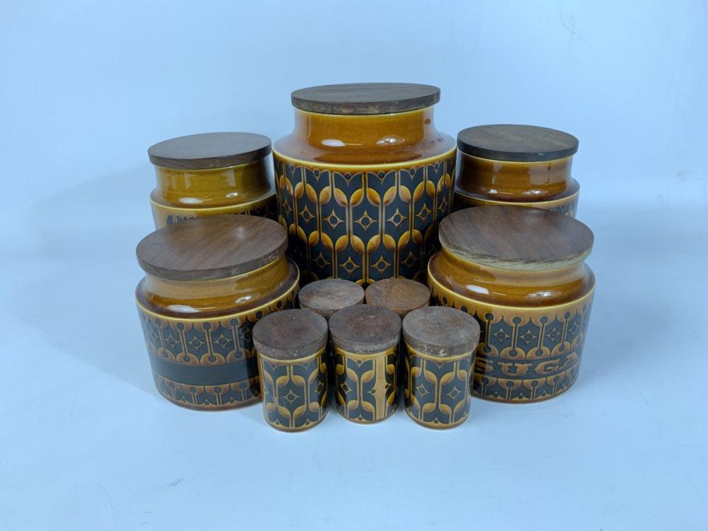 A Set of Hornsea Heirloom Graduated Canisters