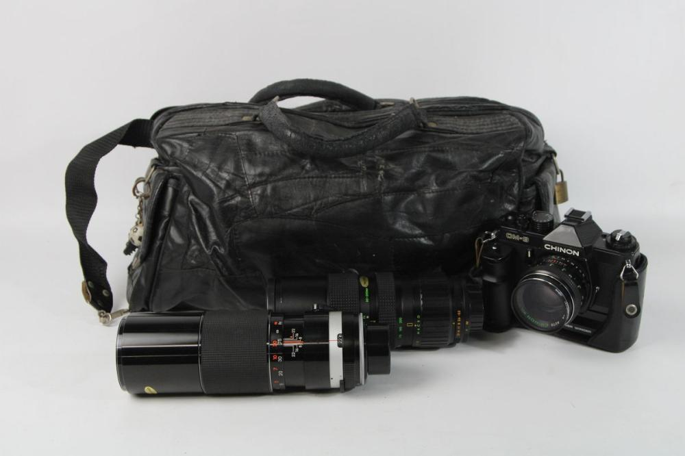 Bag Containing Cameras And Lenses
