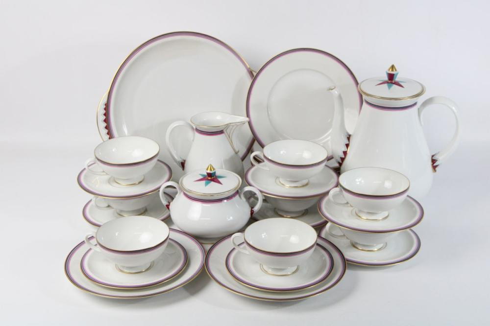 "Bavaria ""Tettau""Setting for 8 inc Jugs and Teapot"