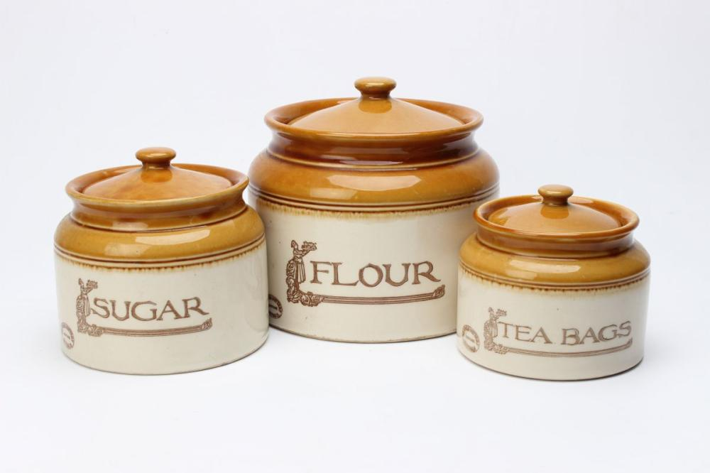 Bendigo graduated Lidded Canisters