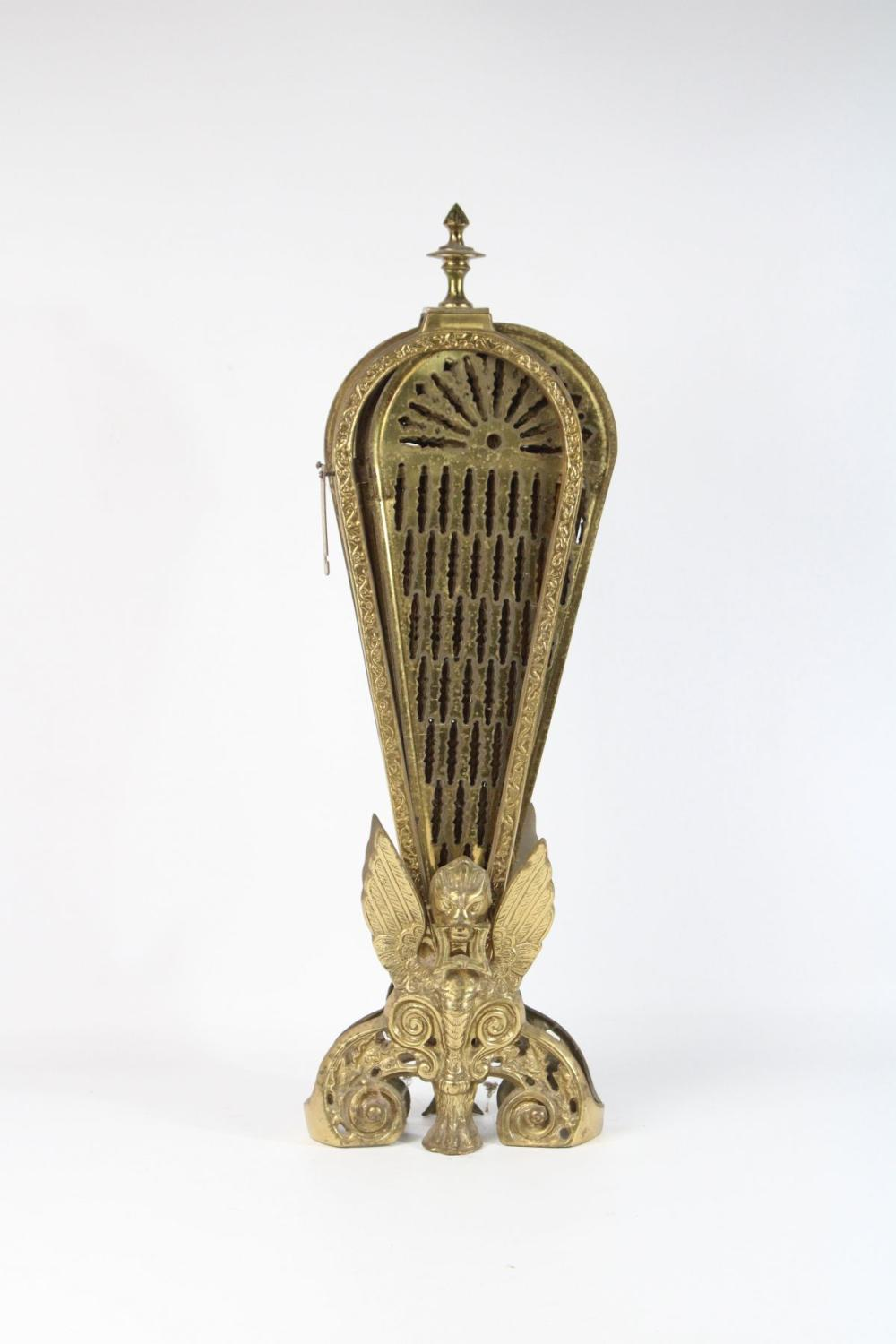 Brass Peacock Fire Screen (H:62cm) L:96cm