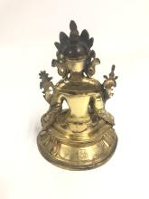 Lot 63: Bronze Bodhisattva On Double Lotus Base H:28cm