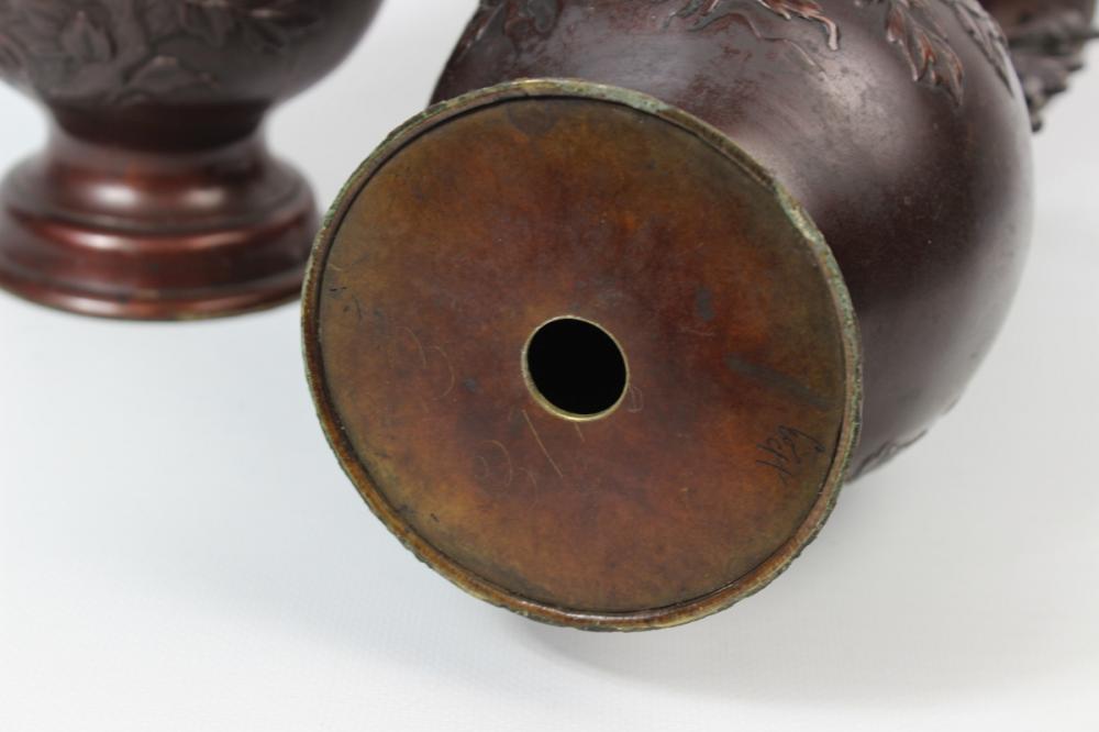 Lot 68: Bronze Possibly Meiji Vases