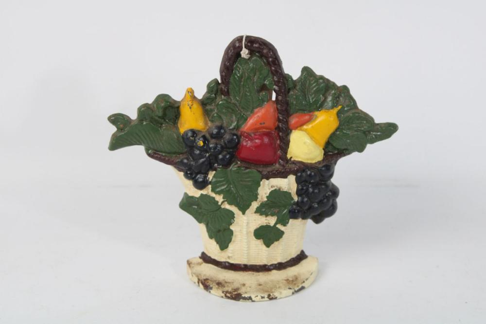 Cast Iron Fruit Bowl Themed Door Stop