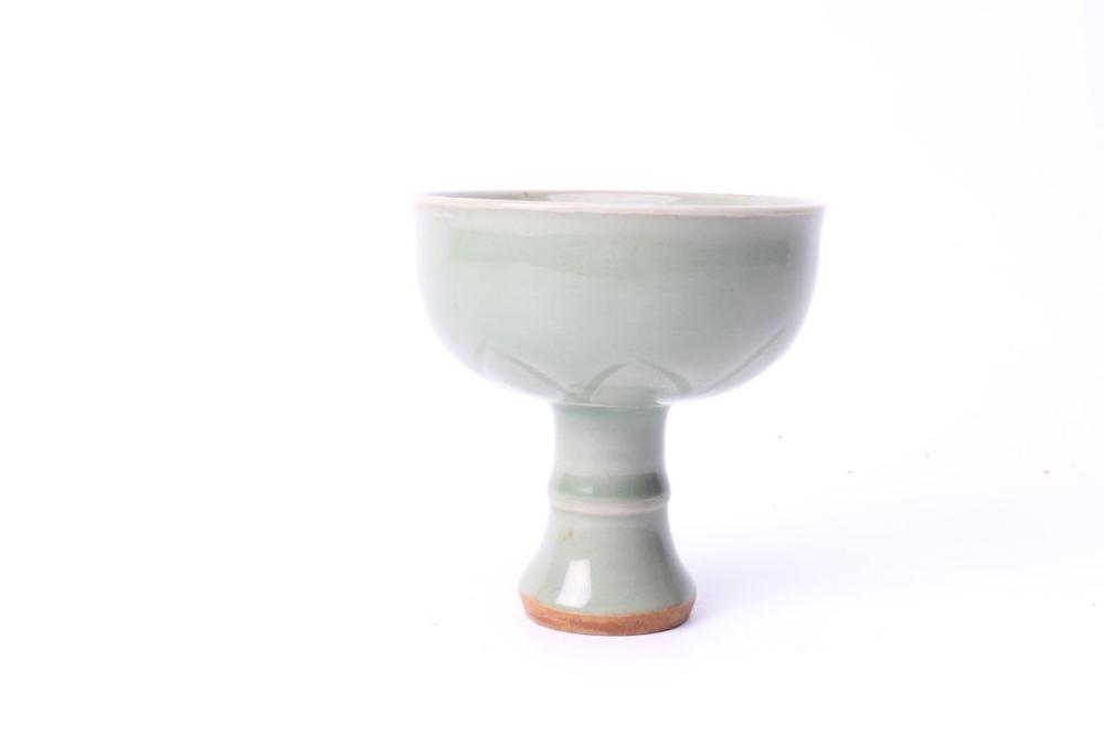 Celadon Single Stem Cup H:10cm