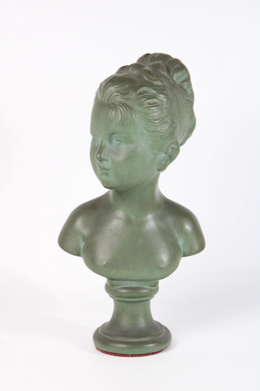 Ceramic Bust of A Female ( H 31cm)