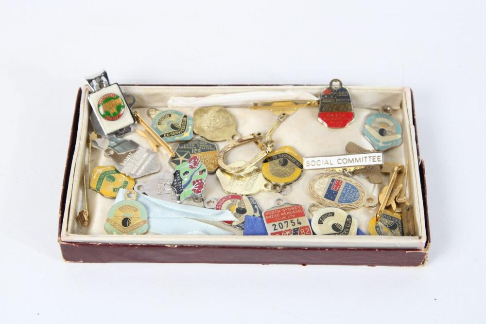 Lot 137: Collection of Various Badge inc Lane Cove WBC, Willoughby Legion Ex Services Club and Others