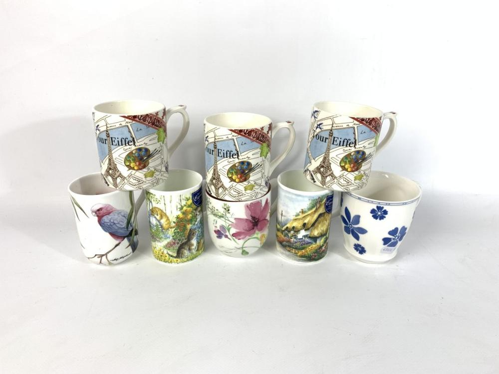Collection of Various Mugs inc Gien (France) Maxwell Williams, Villeroy & Boch and Royal Doulton