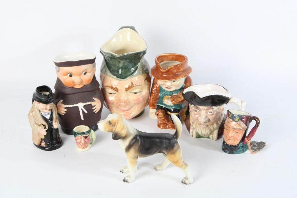 Collection of Various Sized Character Jugs