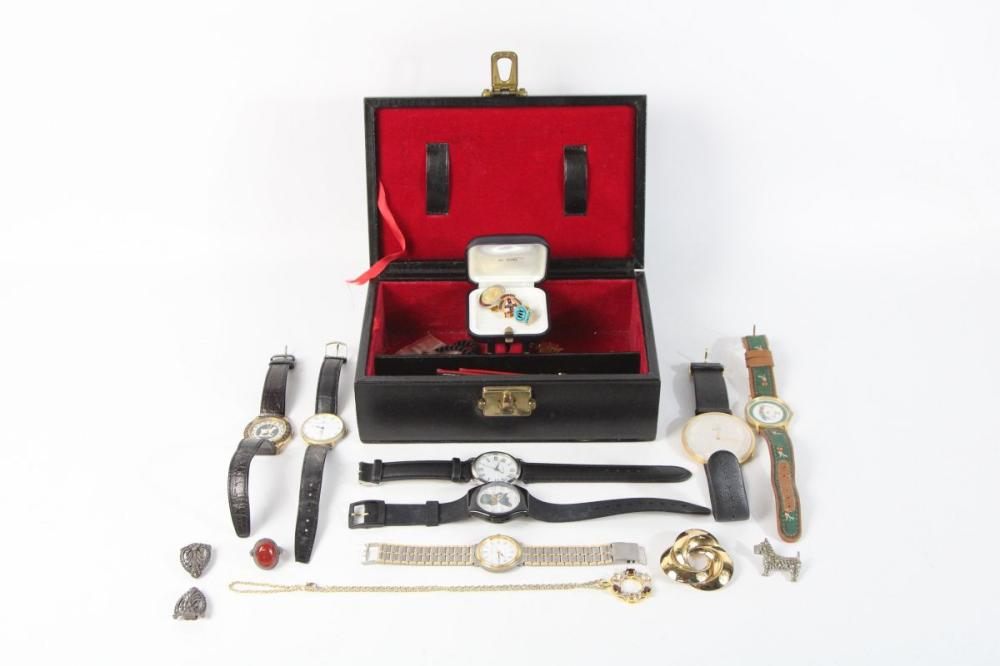 Collection of Various Watches ( Sold as found) Together with Costume Jewellery