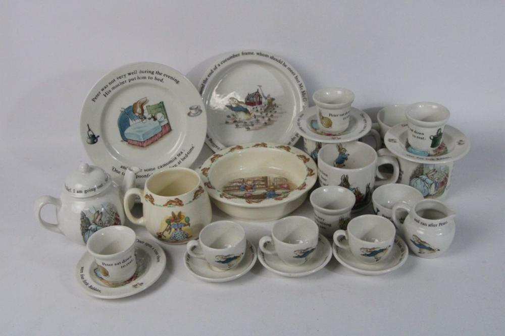 "Collection of Wedgwood ""Peter Rabbit Themed Ceramics Together with 2 Bunnykins Examples"