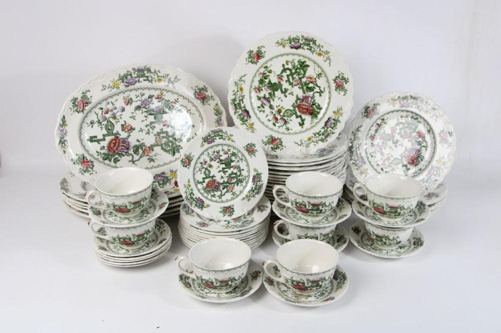 Lot 151: Crown Ducal 'Chinese Gardens' Tea/Dinner Service