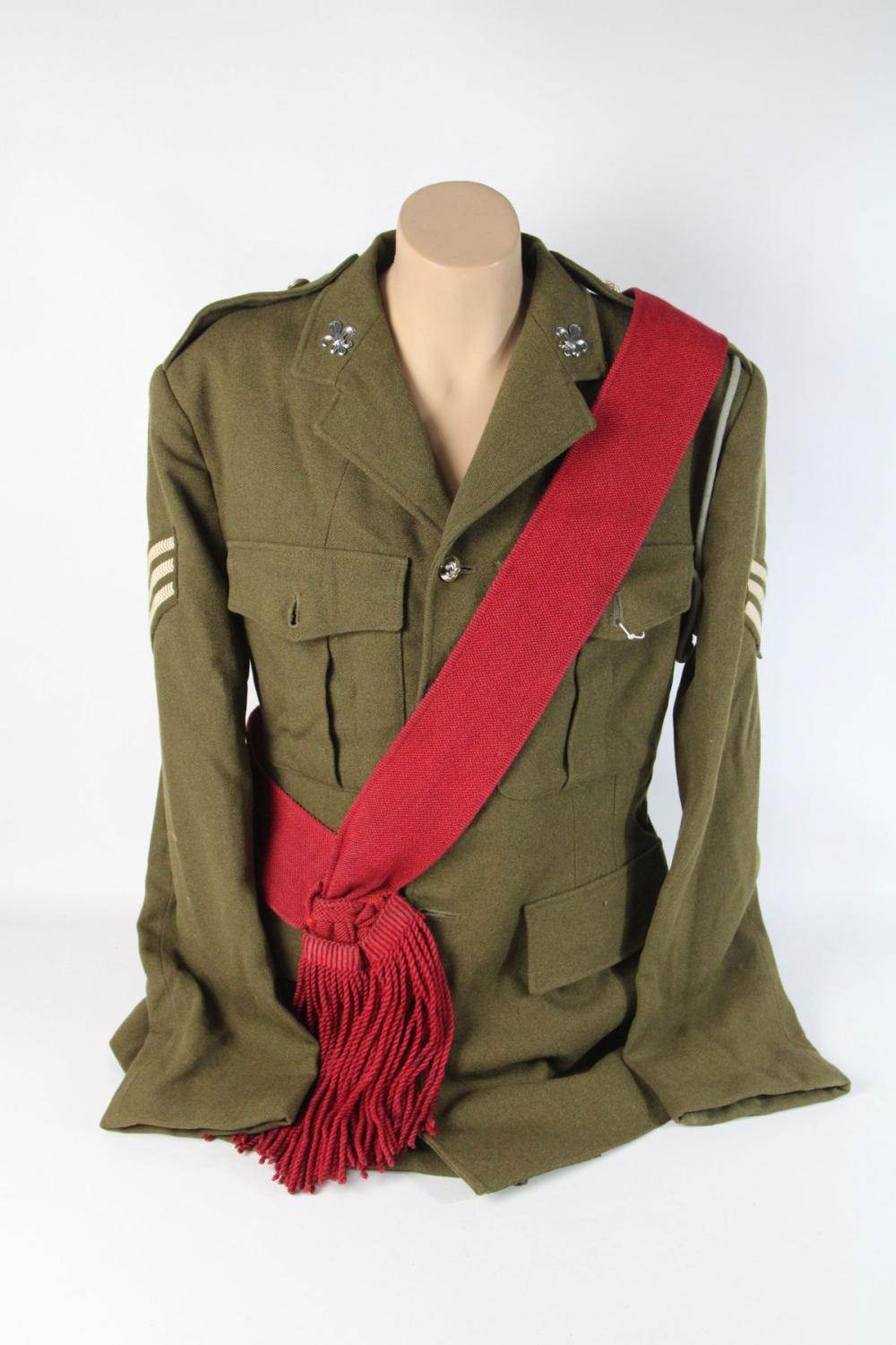 Lot 162: English Army Suit With Sash