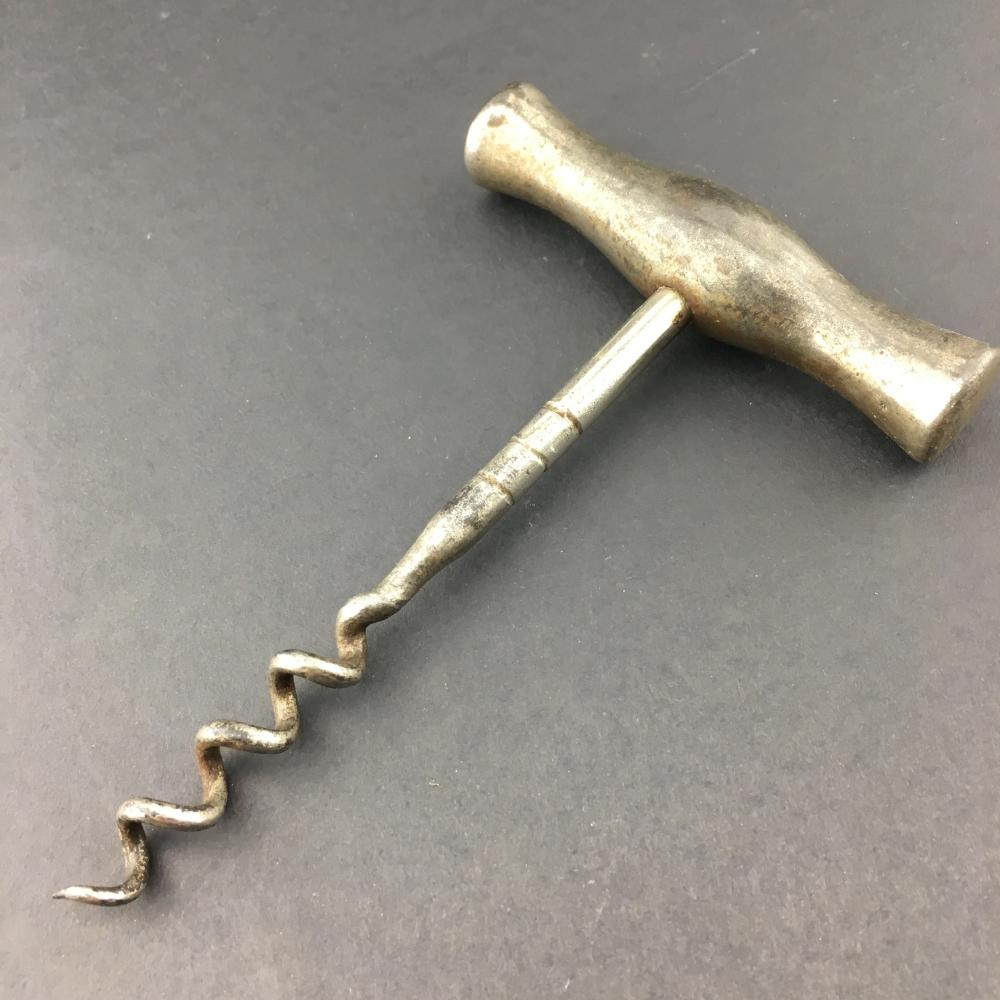 English Direct-Pull Corkscrew, with all metal handle, c.1910