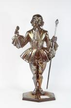 Lot 164: English Figural Cast Iron Firetools