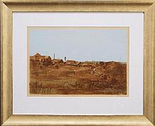 Ray Austin Crooke (1922 -) - Mining Town, N.Q. 40 x 56cm