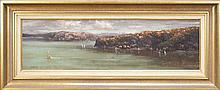 Robert Wilson (1942 - ) - Harbour View - Sydney 23 x 75cm