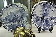 Large Pair of Wall Plaques