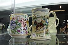 Poole Hand Painted Jug and Crown Devon Fiedings Musical Killarney Mug (not working)