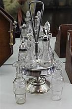 Silver Plated & Glass Cruet Set