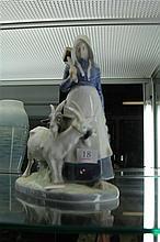 Royal Copenhagen Figure w/ Goats
