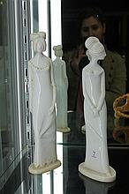 Pair of Pauline Shone Spode China Figures, Emma & Henrietta