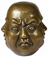 Bronze Phra Phrom Bust