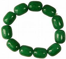 Chinese Green Aventurine Quartz Bracelet
