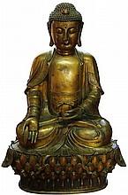 Burmese Bronze Buddha Figure