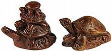 Boxwood Pair of Netsukes