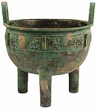 Bronze Ding Censer