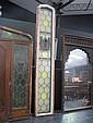 Large Vertical leadlight framed window