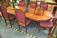 Timber Dining Setting incl. Table & Set of Eight Chairs