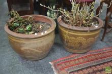 Pair of Chinese Ceramic Planters