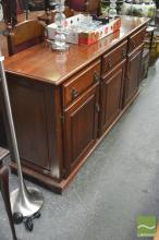 Dutch Colonial Fruitwood Sideboard with Three Drawers & Doors