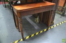 19th Century French Fold Over Card Table