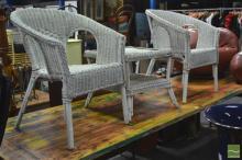 Three Piece Wicker Outdoor Setting