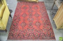 Afghan Hand Knotted Woolen Rug (190 x 125cm)