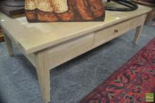 Checker Pattern Coffee Table with Single Drawer
