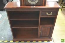 Mahogany Bookshelf with Drawer & Door