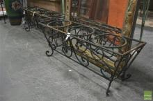 Pair of Scrolled Wrought Iron Plant Stands with Three Holders