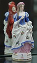 German Double-sided Lady and Devil Porcelain Figure