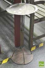 Beaten Brass Wine Table